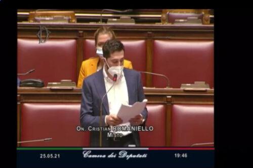 25 maggio Intervento del deputato Cristian Romaniello